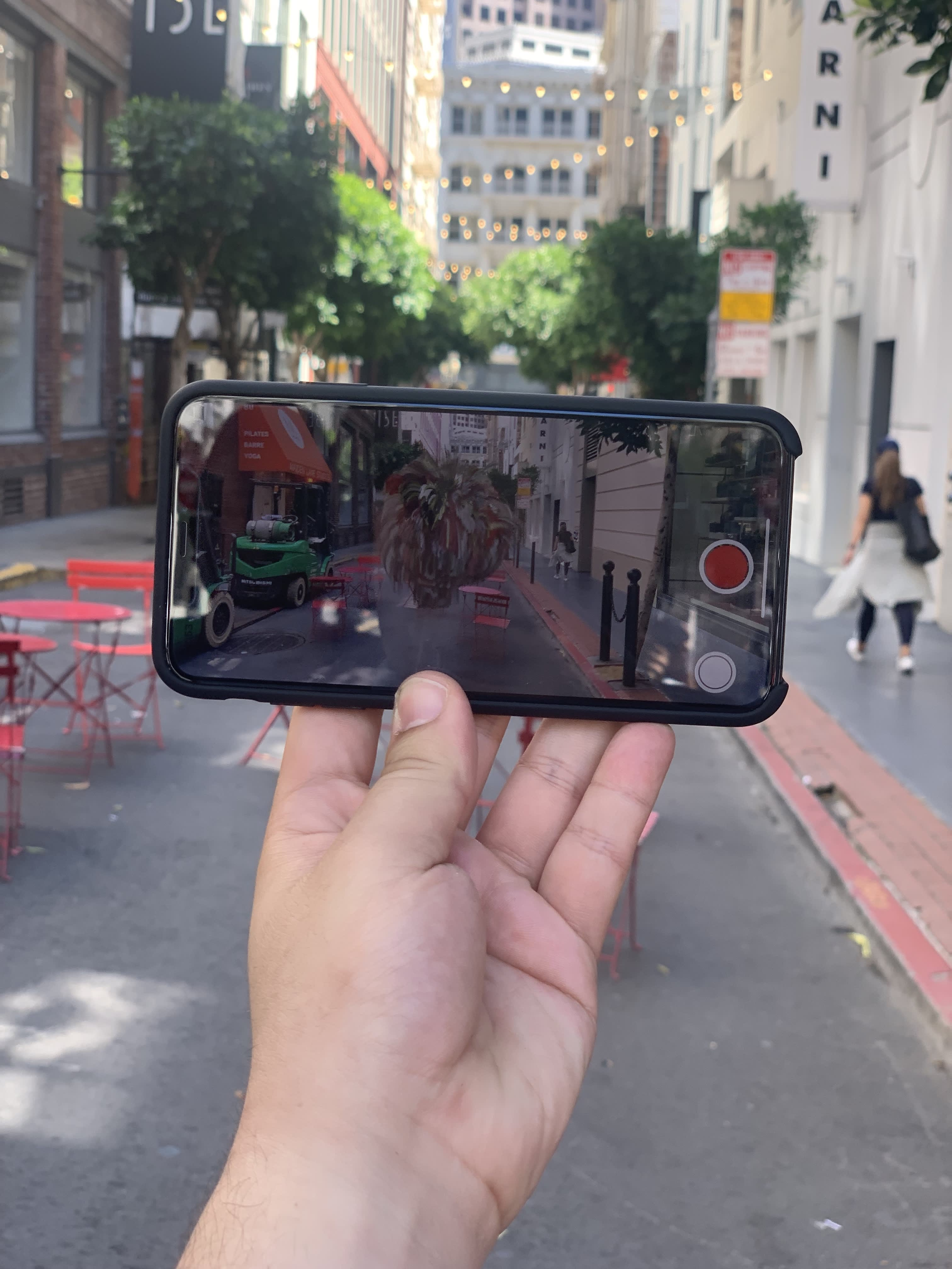 Apple took us on a surreal walk through San Francisco, looking at digital art on an iPhone