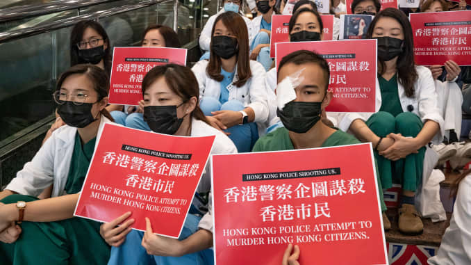 GP: Unrest In Hong Kong During Anti-Government Protests