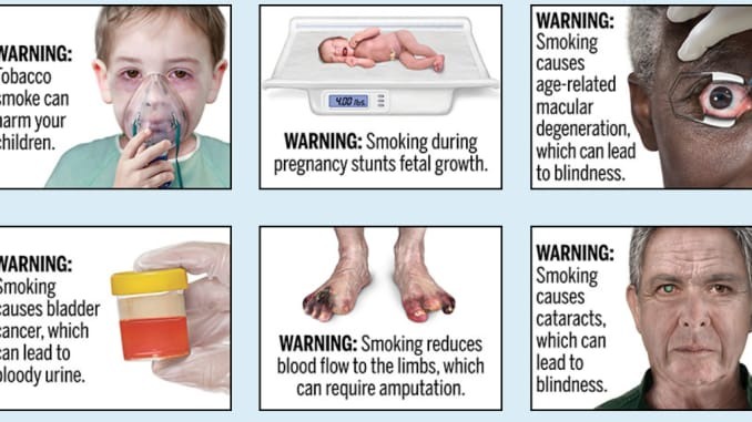 H/O: FDA proposed cigarette warnings