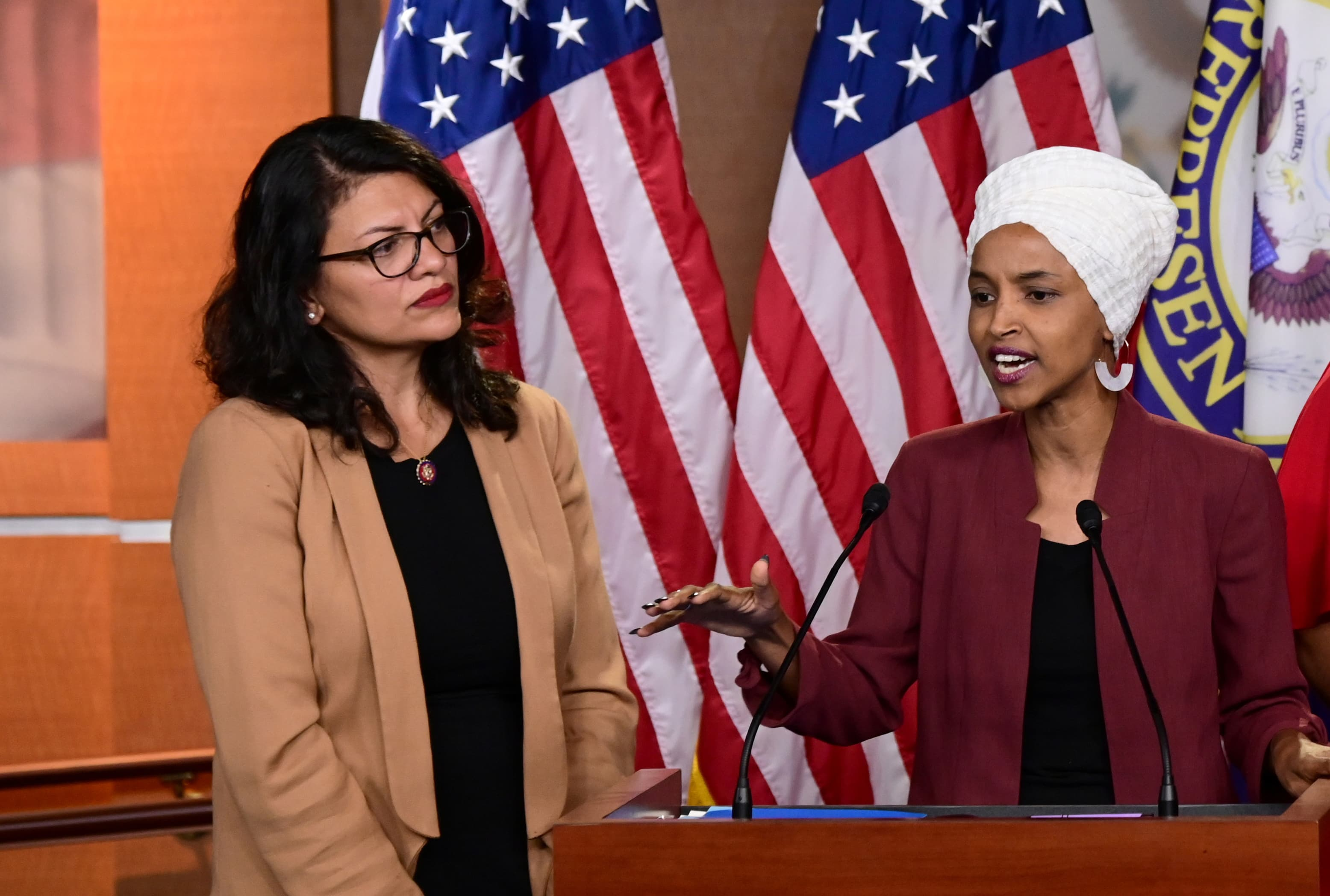 Israel bars Democrats Tlaib and Omar from visiting after Trump claims they hate 'all Jewish people'