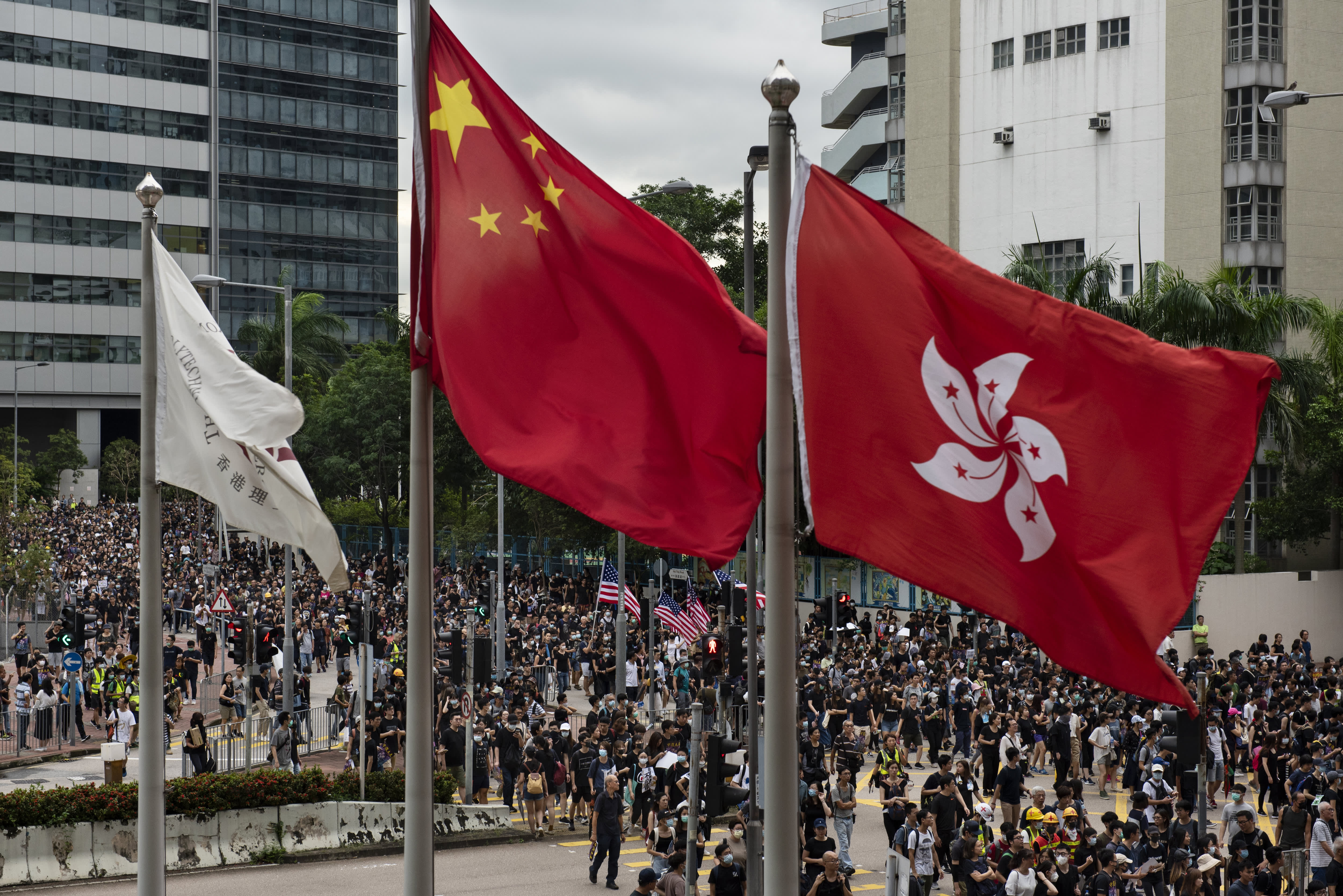 Hong Kong protests will be 'settled or crushed' ahead of China national celebrations, analyst says