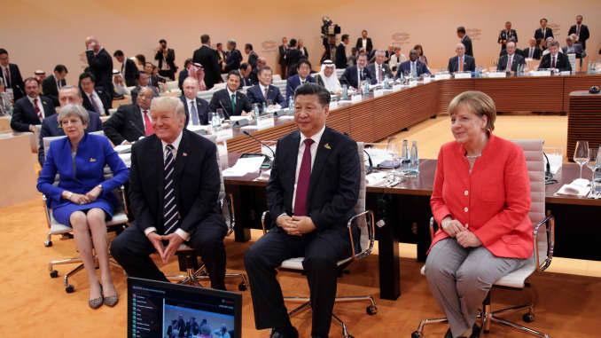 GS- Trump, Xi Jinping and Merkel at the G-20