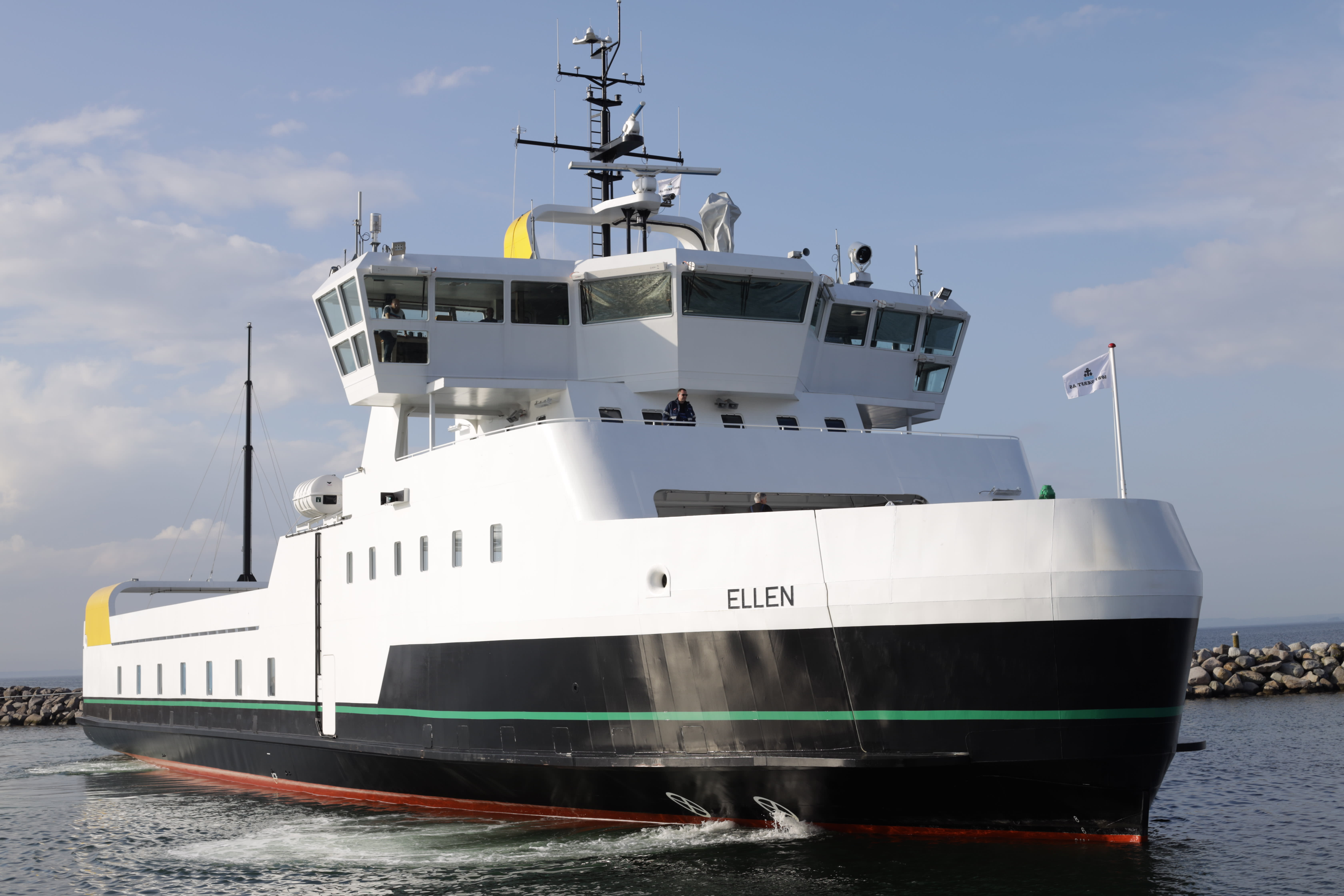 The world's 'largest all-electric ferry' has completed its maiden voyage