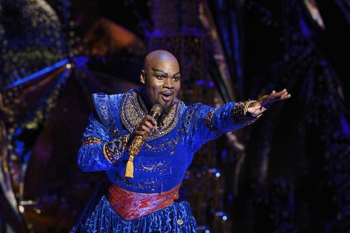 A day in the life of the Genie, who takes the subway to work and performs 8 shows a week on Broadway