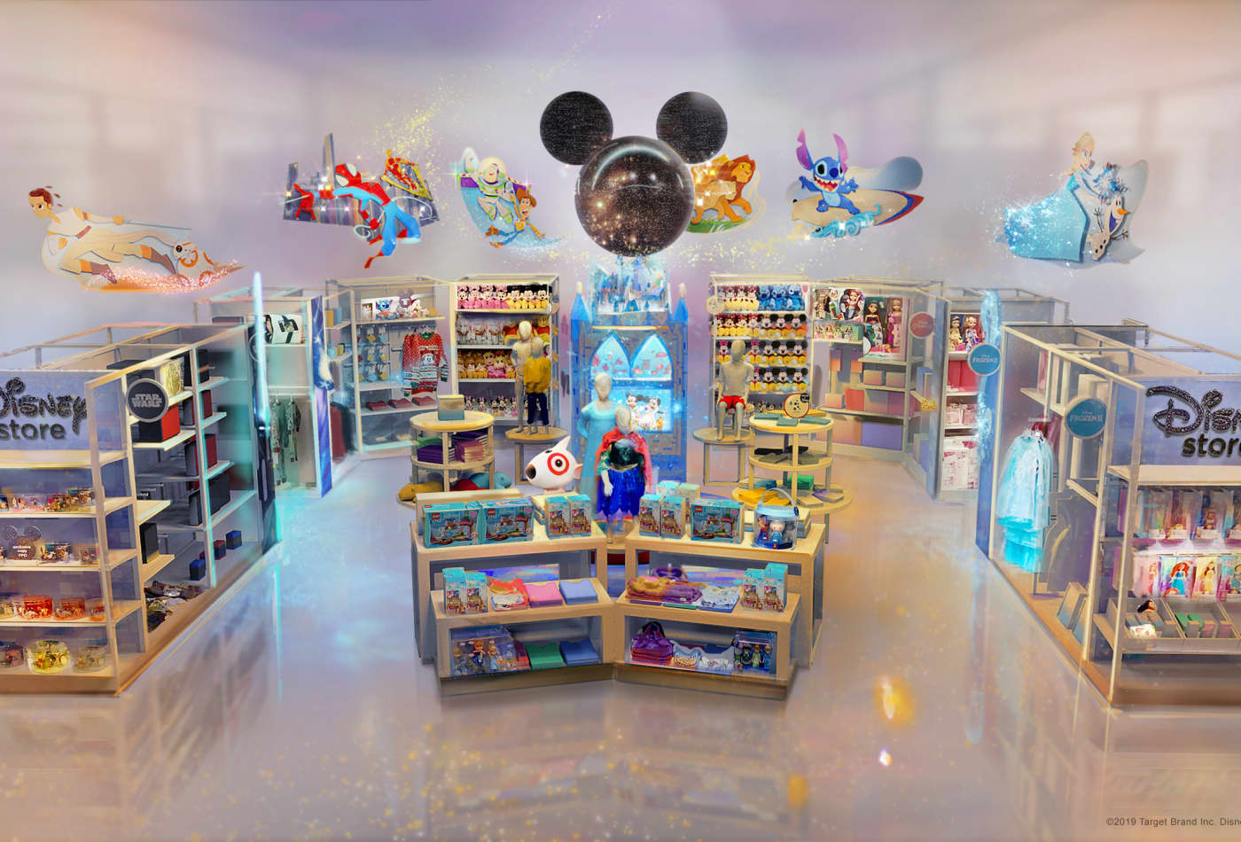 Disney is putting dozens of stores inside Target locations while Target set to open at Walt Disney World Resort