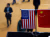 A Chinese and U.S. flag at a booth during the first China International Import Expo in Shanghai.
