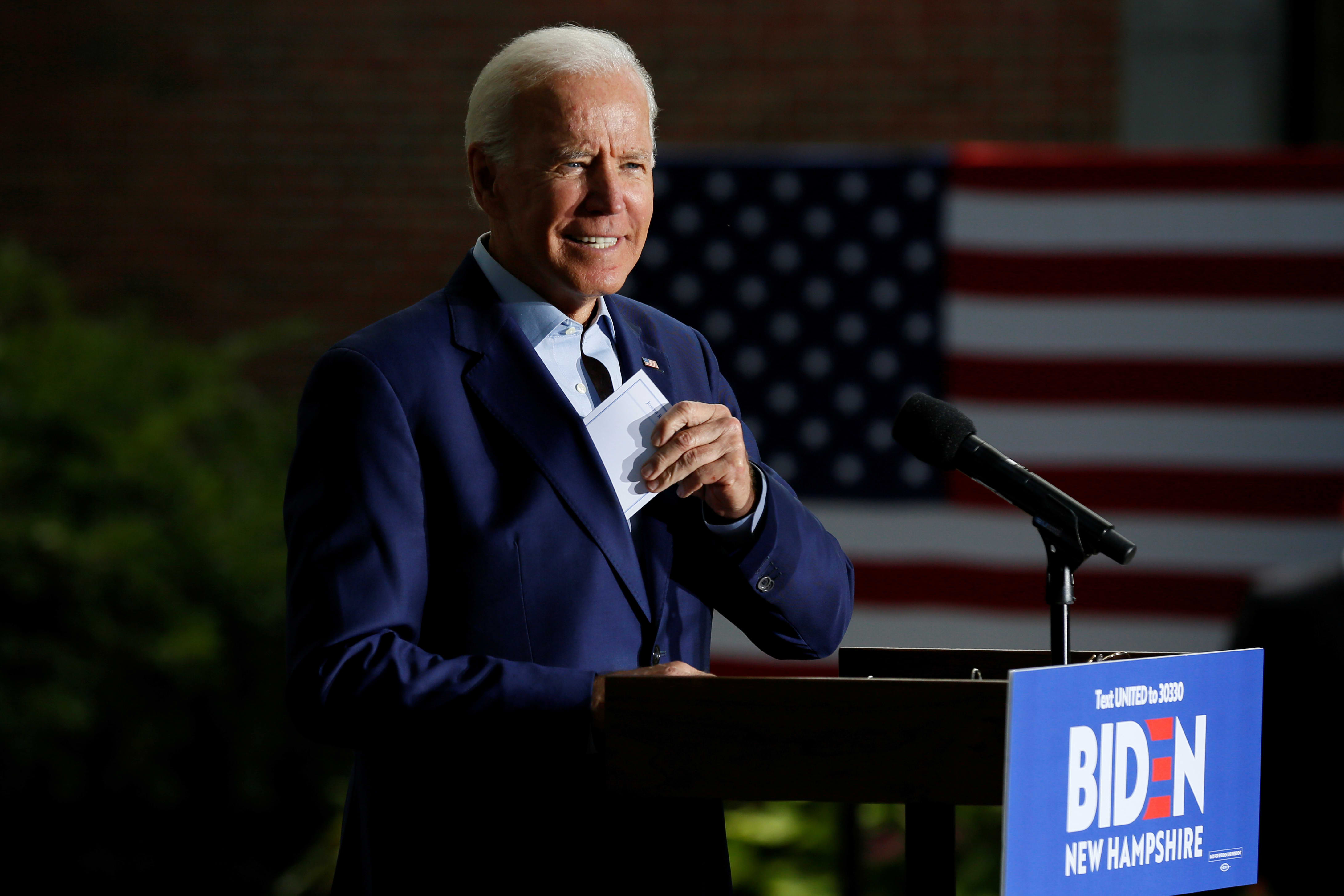 At campaign stop, Biden hints at his plan to address student debt and rising tuition