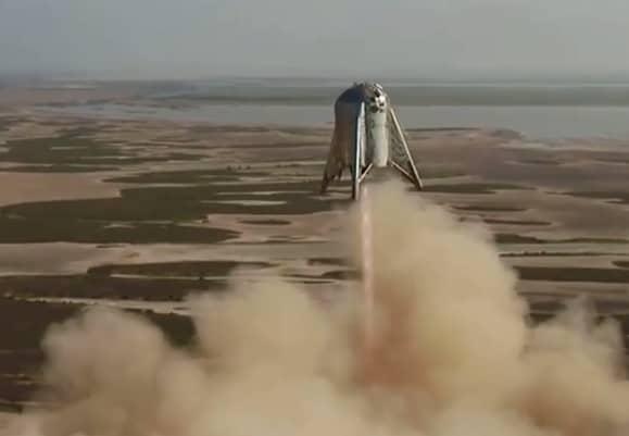 SpaceX flies prototype Mars rocket 'Starhopper' in highest and longest test yet