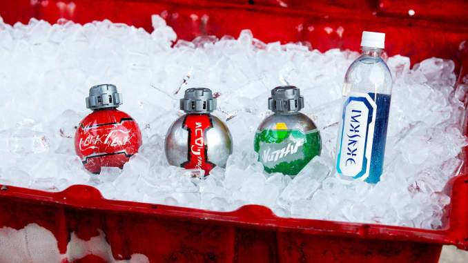 H / O Galaxy's Edge Botellas de Coca Cola