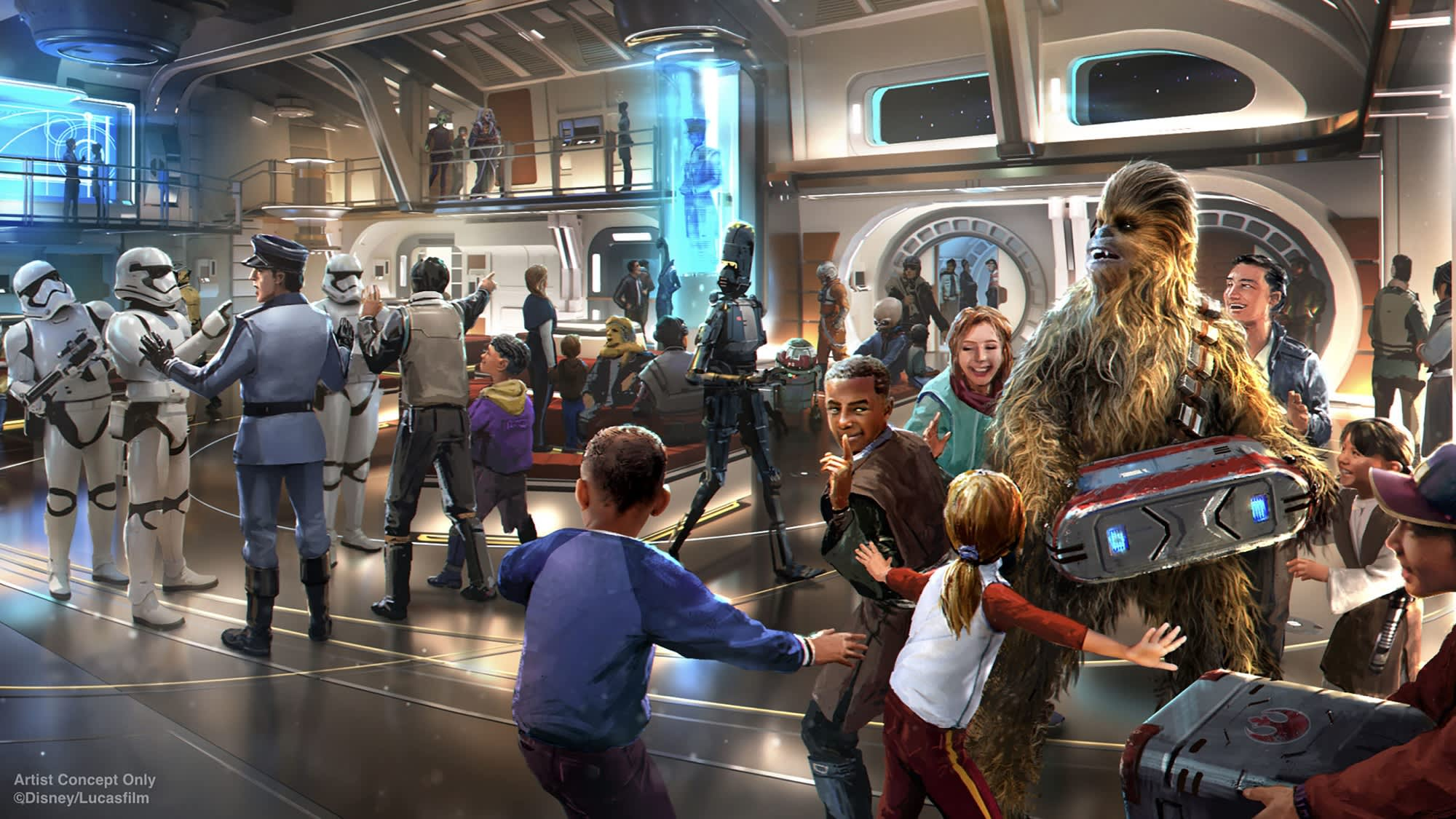See what Disney's new 'Star Wars' Galactic Starcruiser hotel will look like