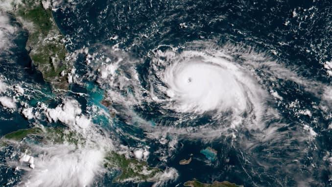 Hurricane Dorian Makes Landfall On The East Of Grand Bahama
