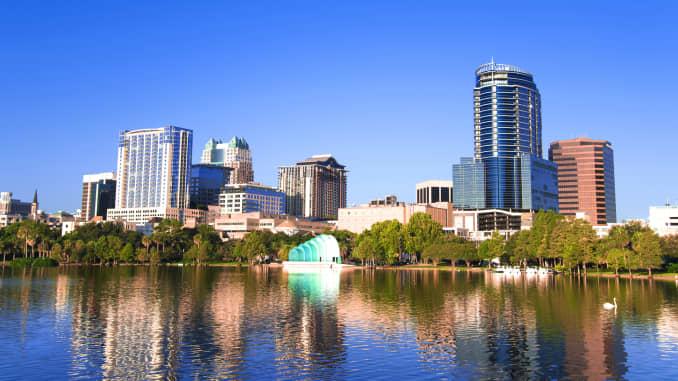 GP: Downtown Orlando view, Florida