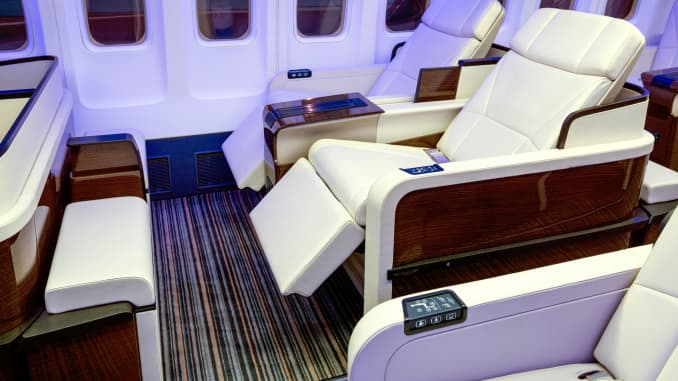 H/O: TCS World Travel airline seats