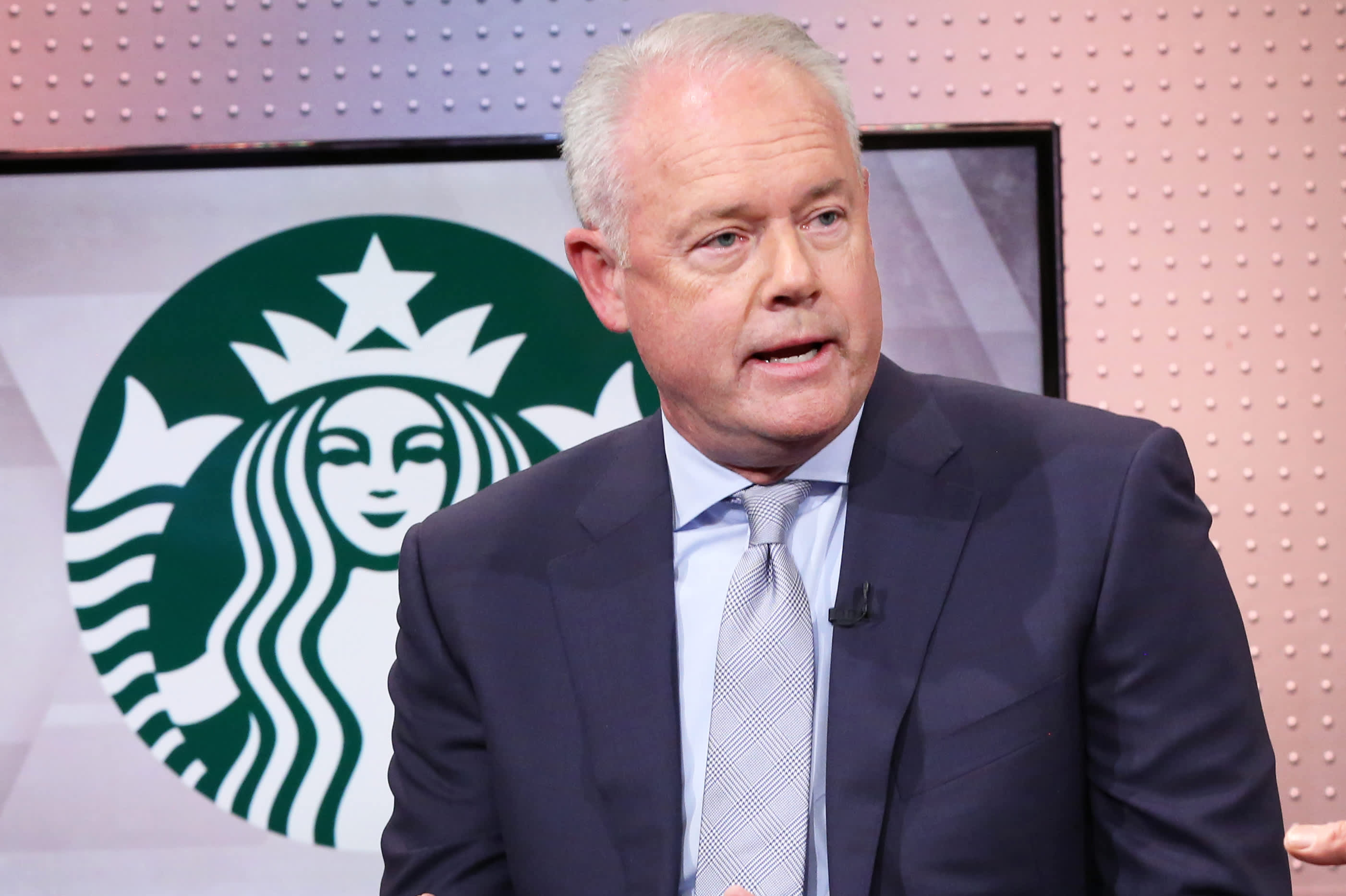 'We've got a strong balance sheet': Starbucks CEO defends buybacks