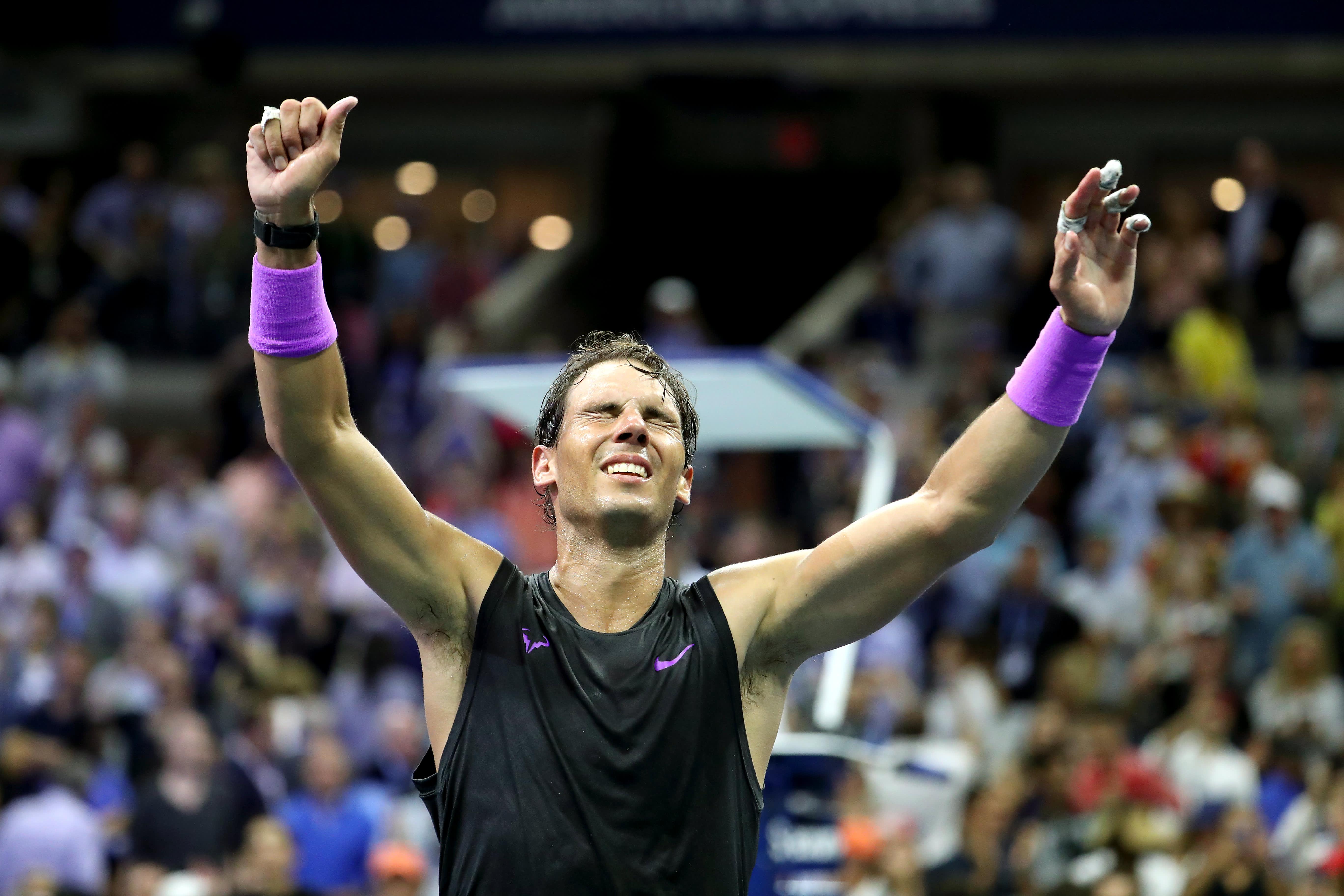 Rafael Nadal beats Daniil Medvedev to win US Open and claim 19th Grand Slam title