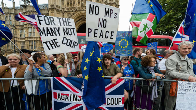 Premium: 'Stop The Coup' Protest Against Prorogation Of UK Parliament