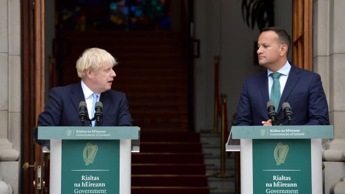 GP: British Prime Minister Boris Johnson Meets Leo Varadkar In Ireland 190910 EU