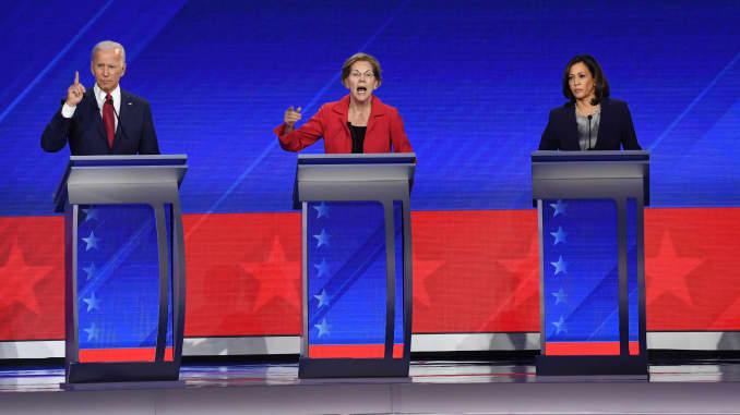 GP: Joe Biden Elizabeth Warren Kamala Harris US-VOTE-2020-DEMOCRATS-DEBATE-POLITICS