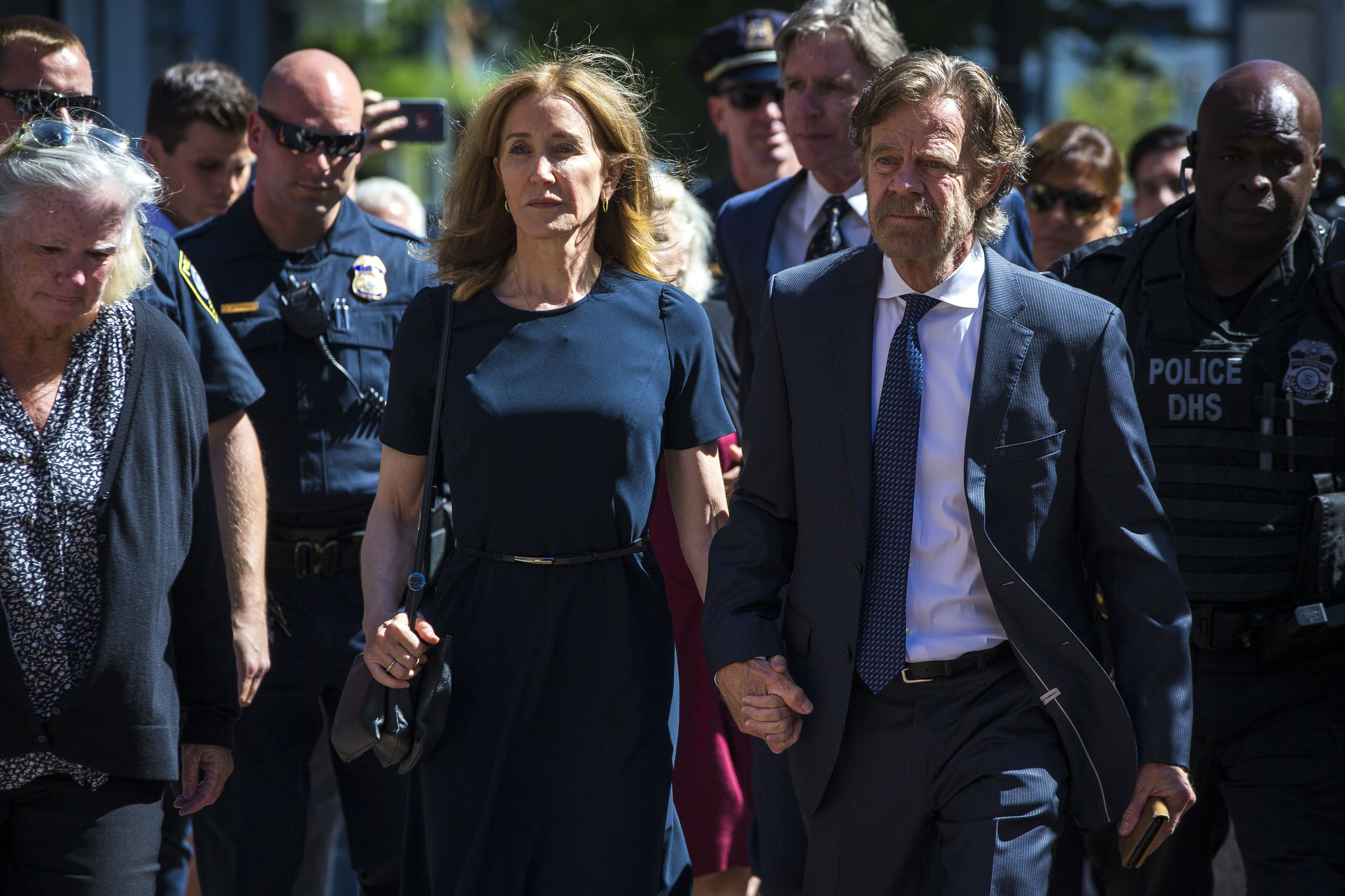 Actress Felicity Huffman sentenced to two weeks in jail in college admissions cheating case