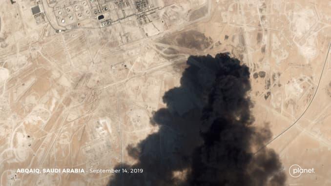Saudi Arabia oil drone strike 190914 EC