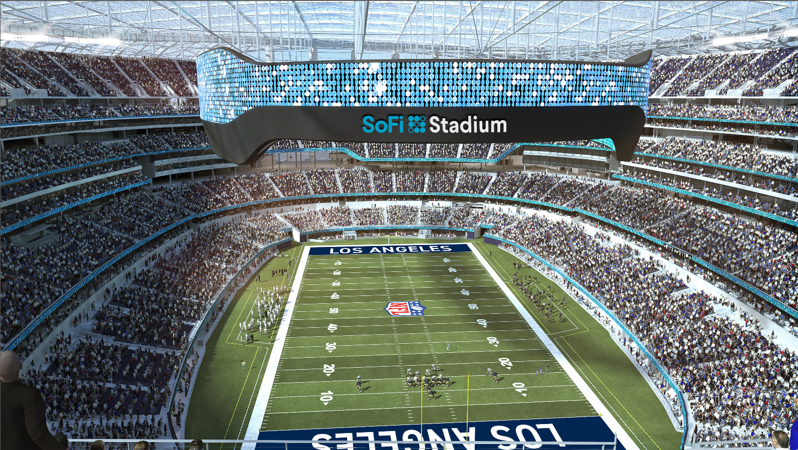 Finance start-up SoFi strikes deal to put its name on new LA stadium for the Rams and Chargers