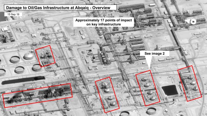 Image result for attack saudi arabia damage