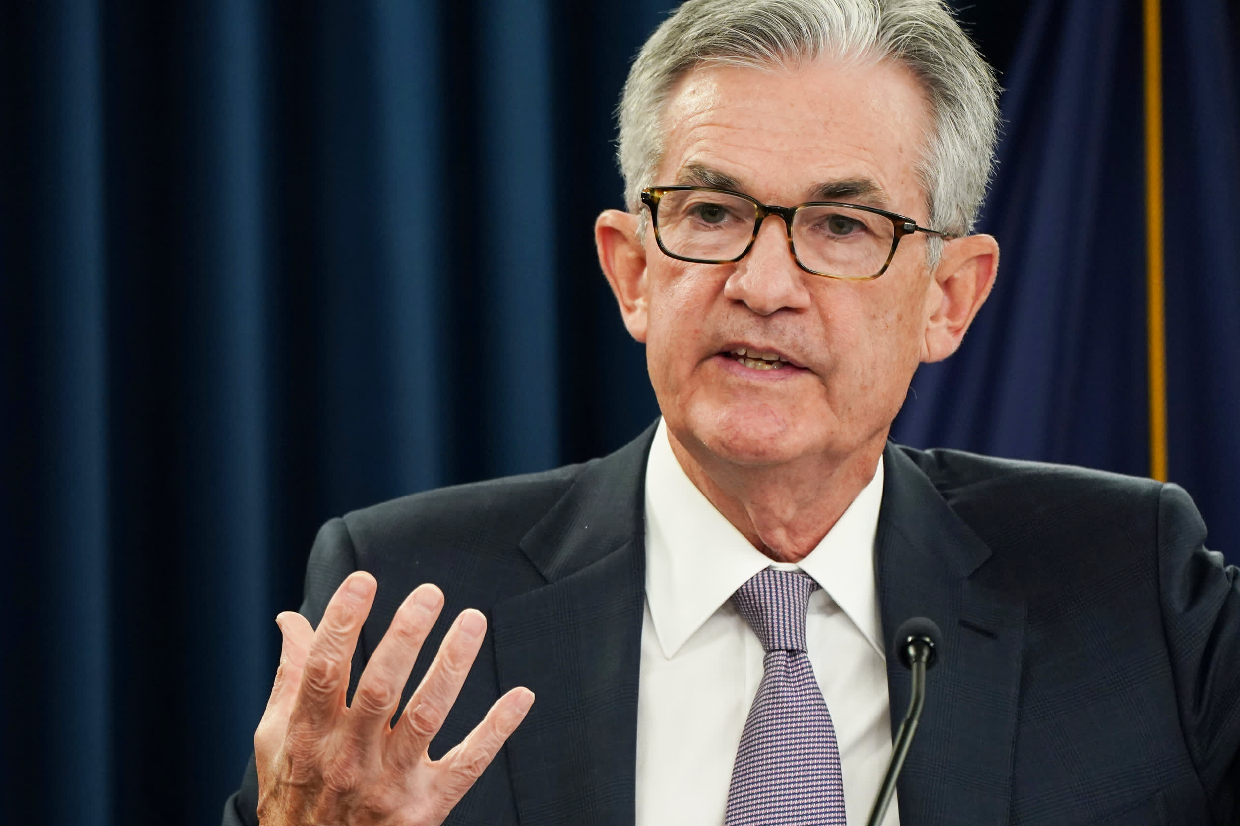 Watch Fed Chair Jerome Powell speak live on the economy