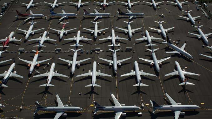 GP: Boeing 737 Max Planes Sit Idle 190813