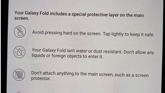 CNBC Tech: Galaxy Fold warning