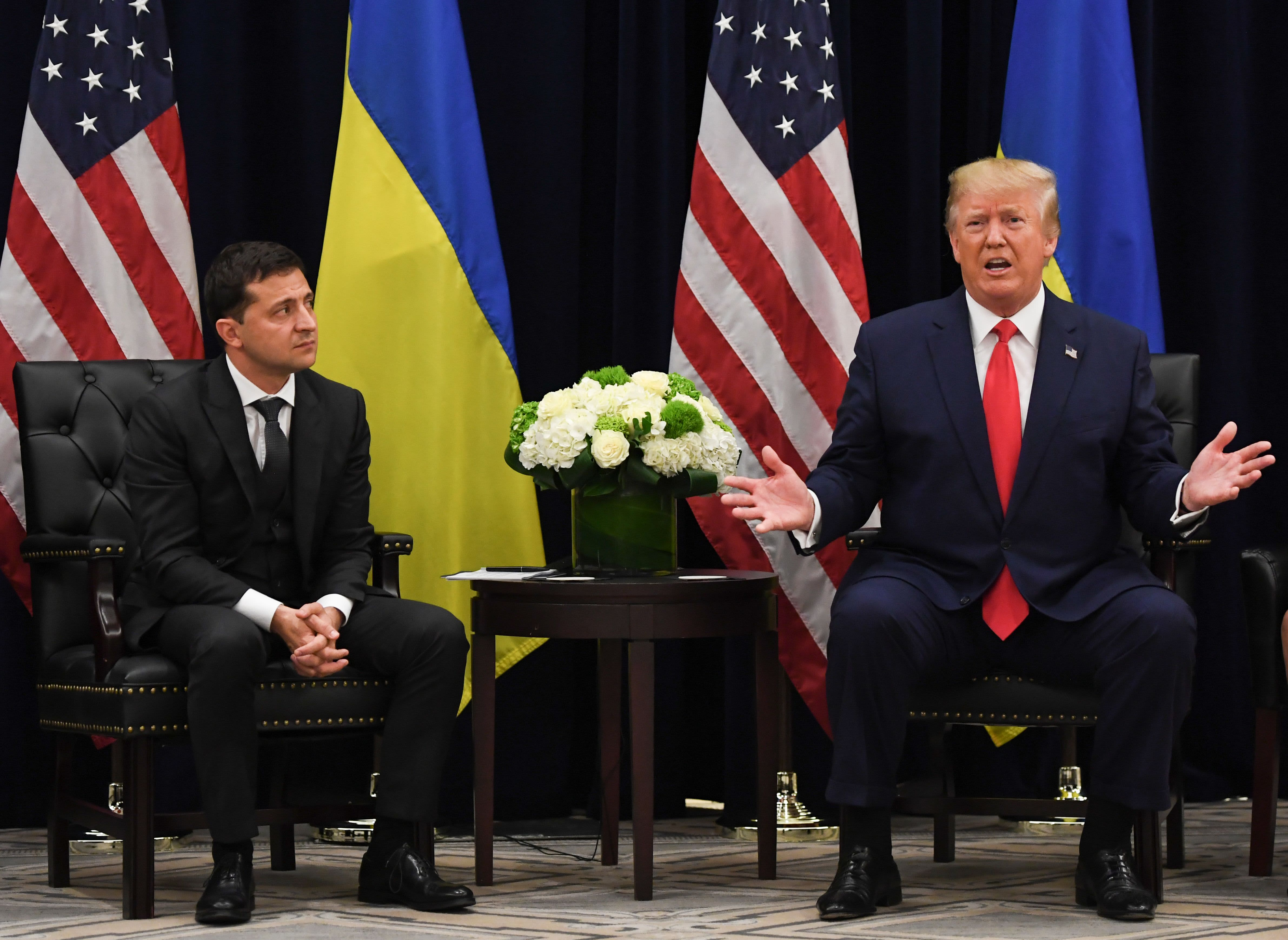 Ukraine's president says there was no blackmail in Trump call