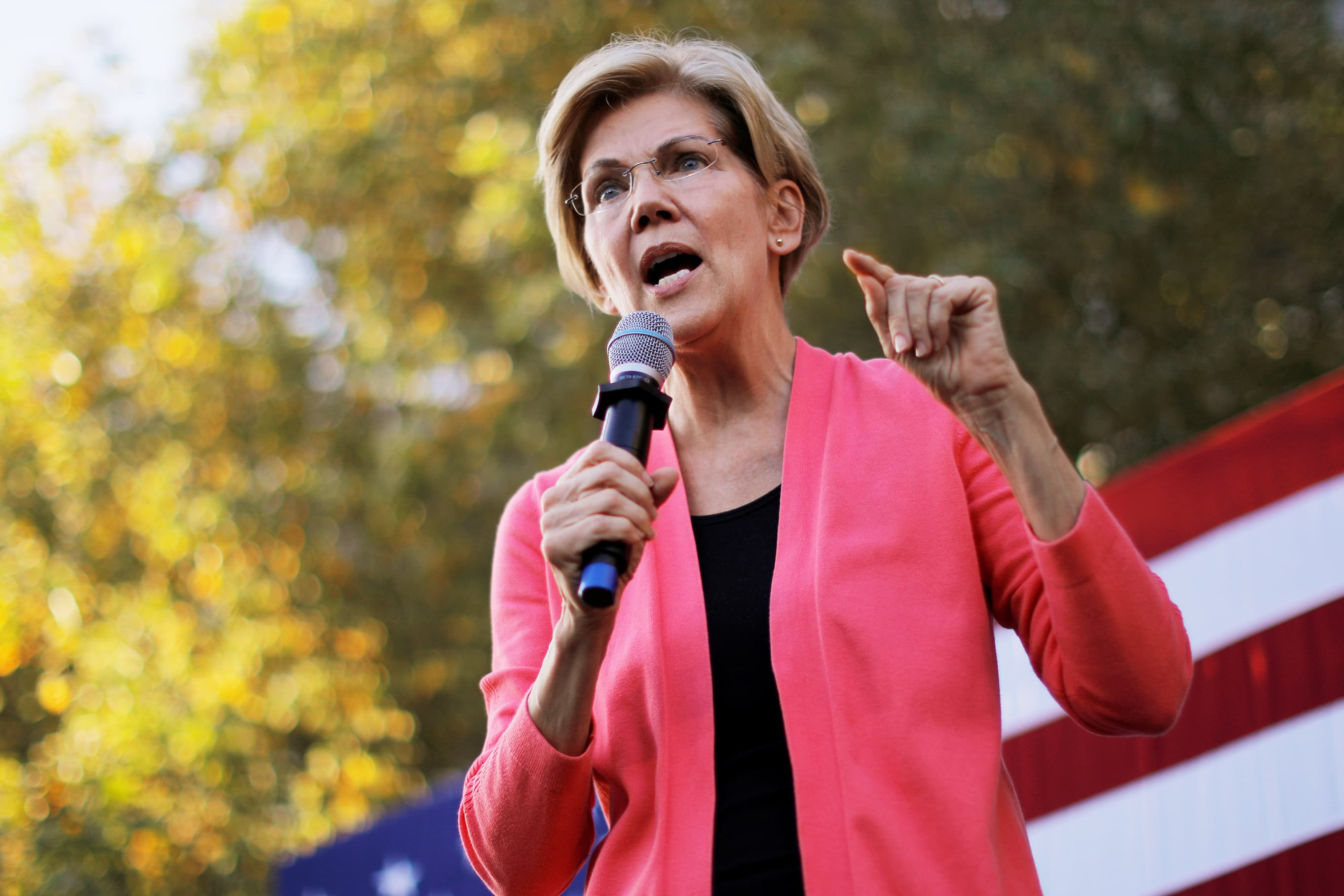 Warren pledges to turn down money from Big Tech and top Wall Street executives