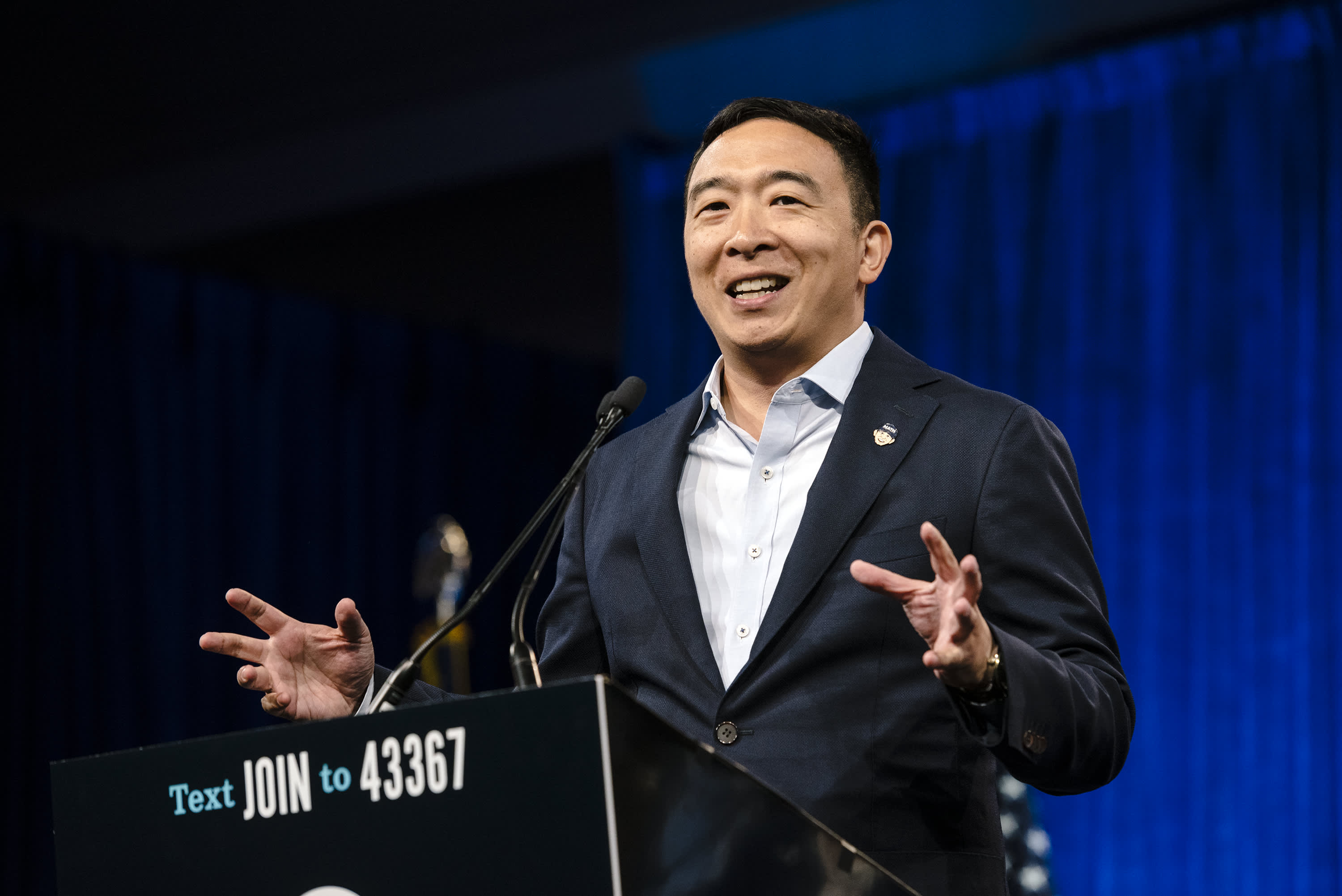 Andrew Yang says the wealth tax proposals from Sanders and Warren could be a 'disaster in practice'