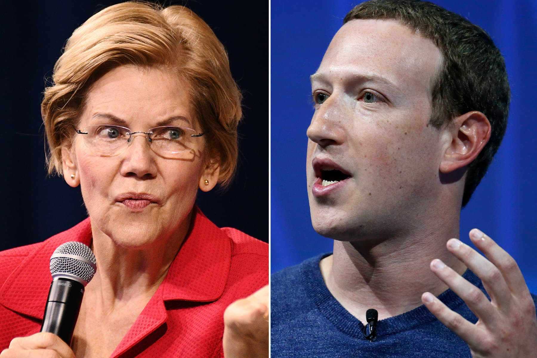 <b>Warren attacks Facebook for 'quietly' changing its political ad policy after Zuckerberg's meeting with Trump</b>
