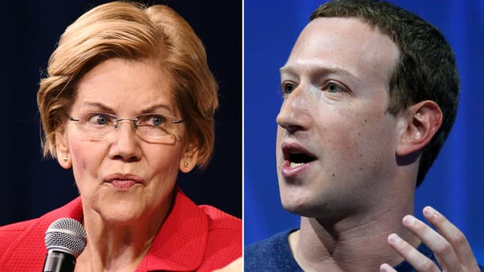 GP: Elizabeth Warren Mark Zuckerberg split