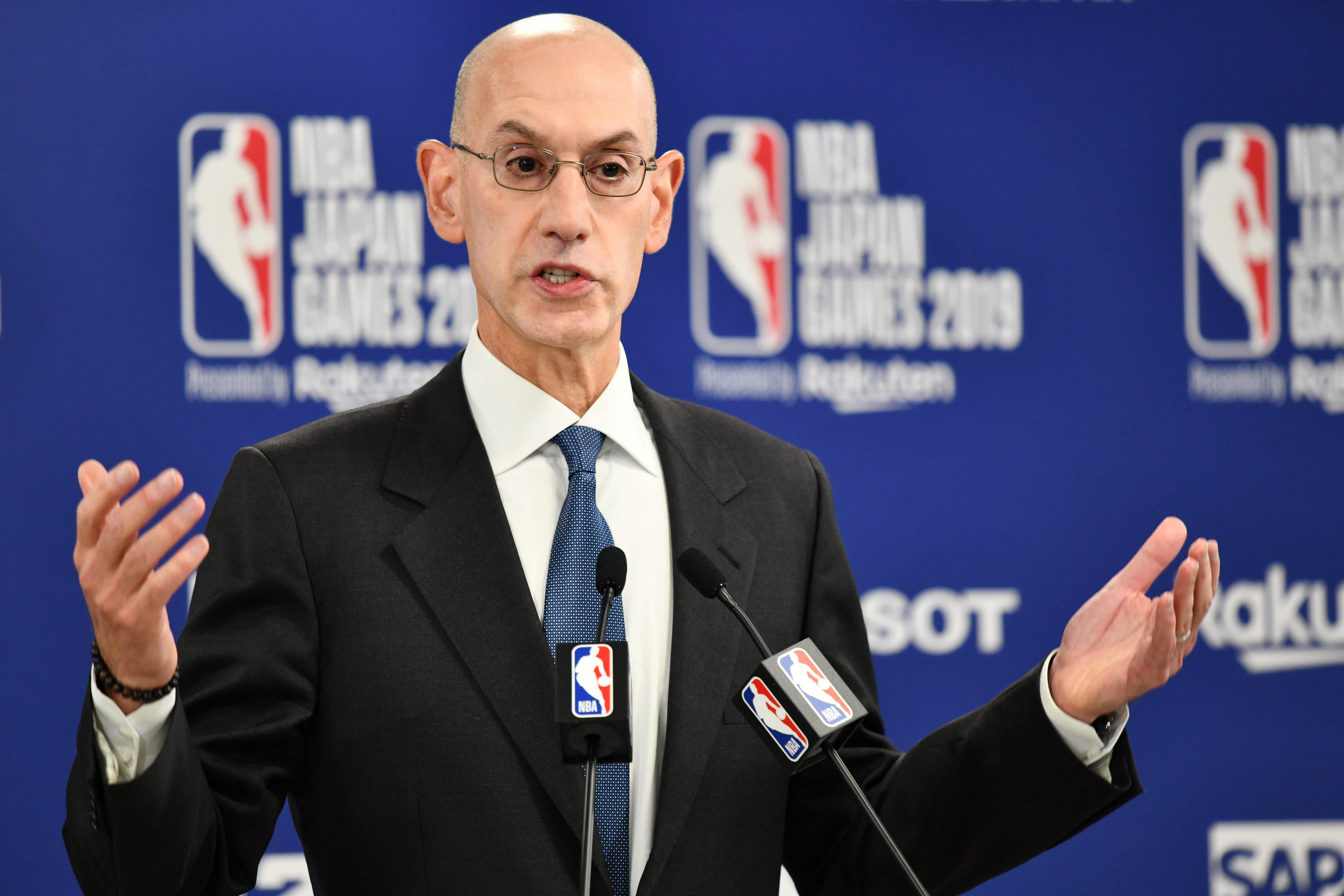 NBA commissioner Adam Silver says league might not start next regular season until 2021