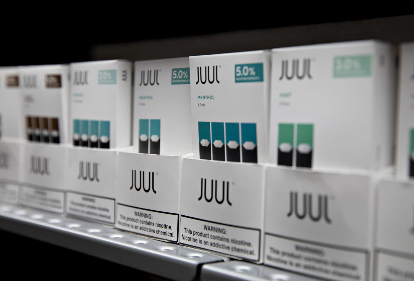 The FDA bans most fruit- and mint-flavored nicotine vaping products to curb teen use