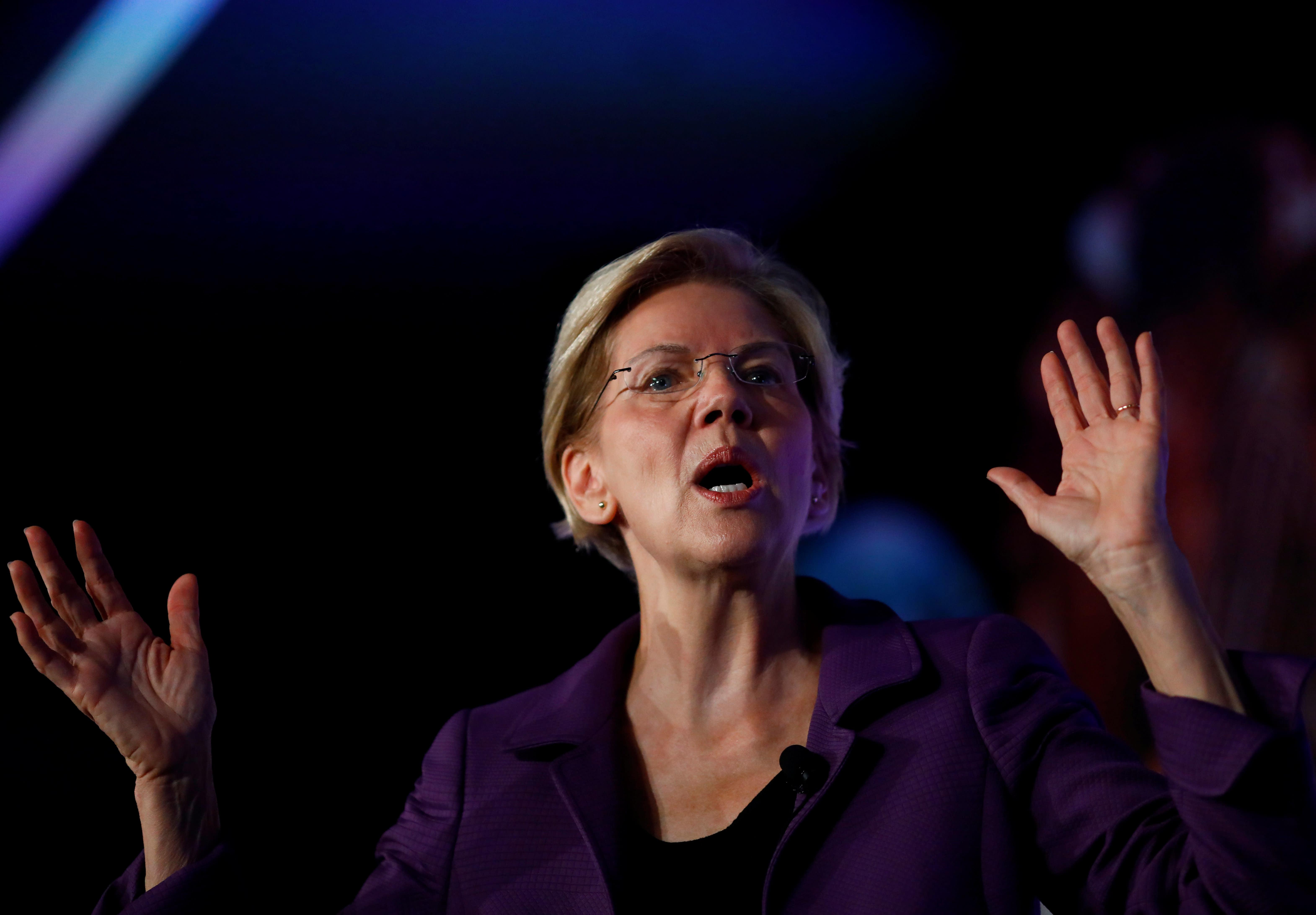 Elizabeth Warren says she won't do big-dollar fundraisers if she is the Democratic nominee
