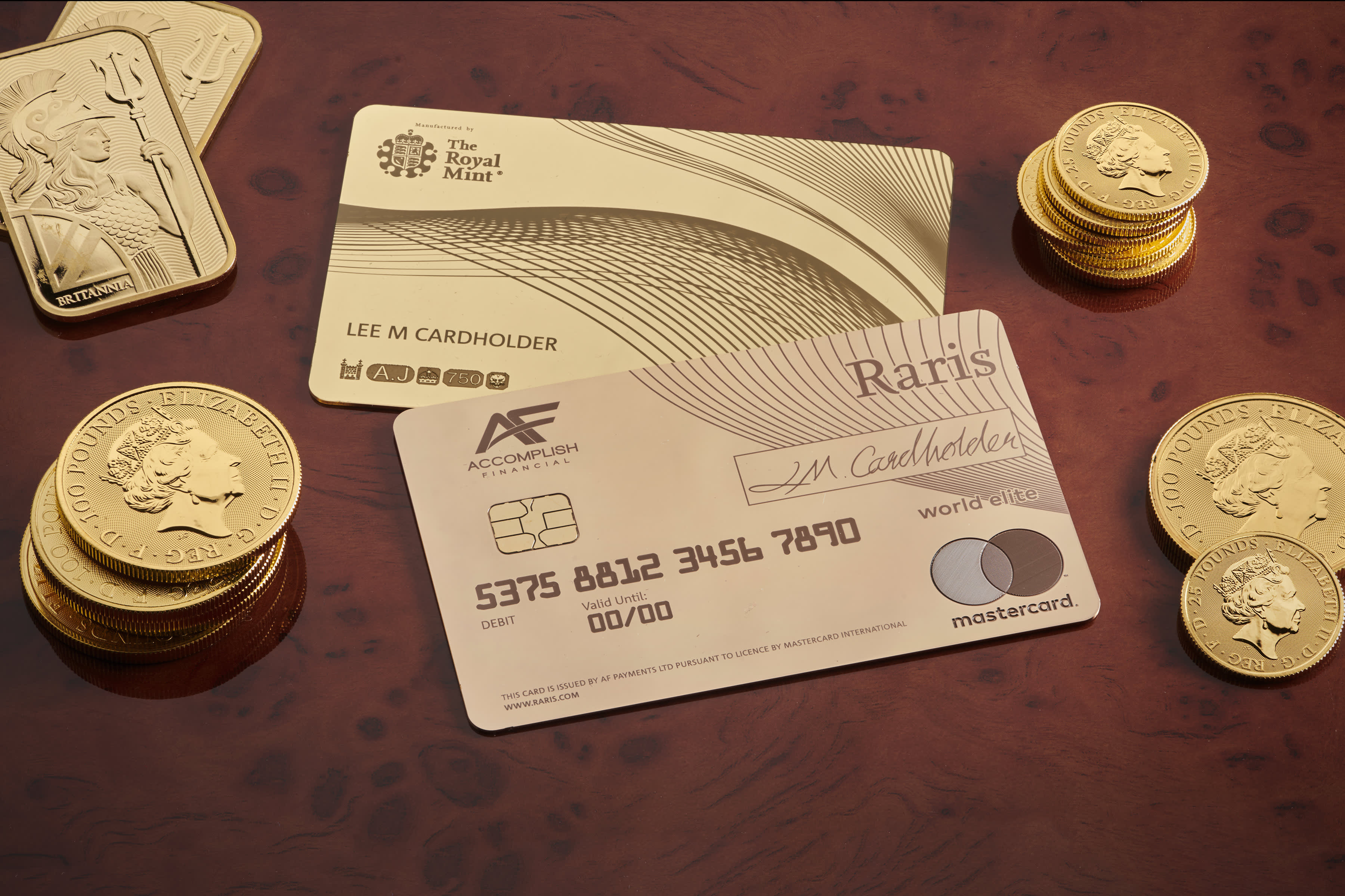 The UK just unveiled a $23,000 payment card made from solid gold