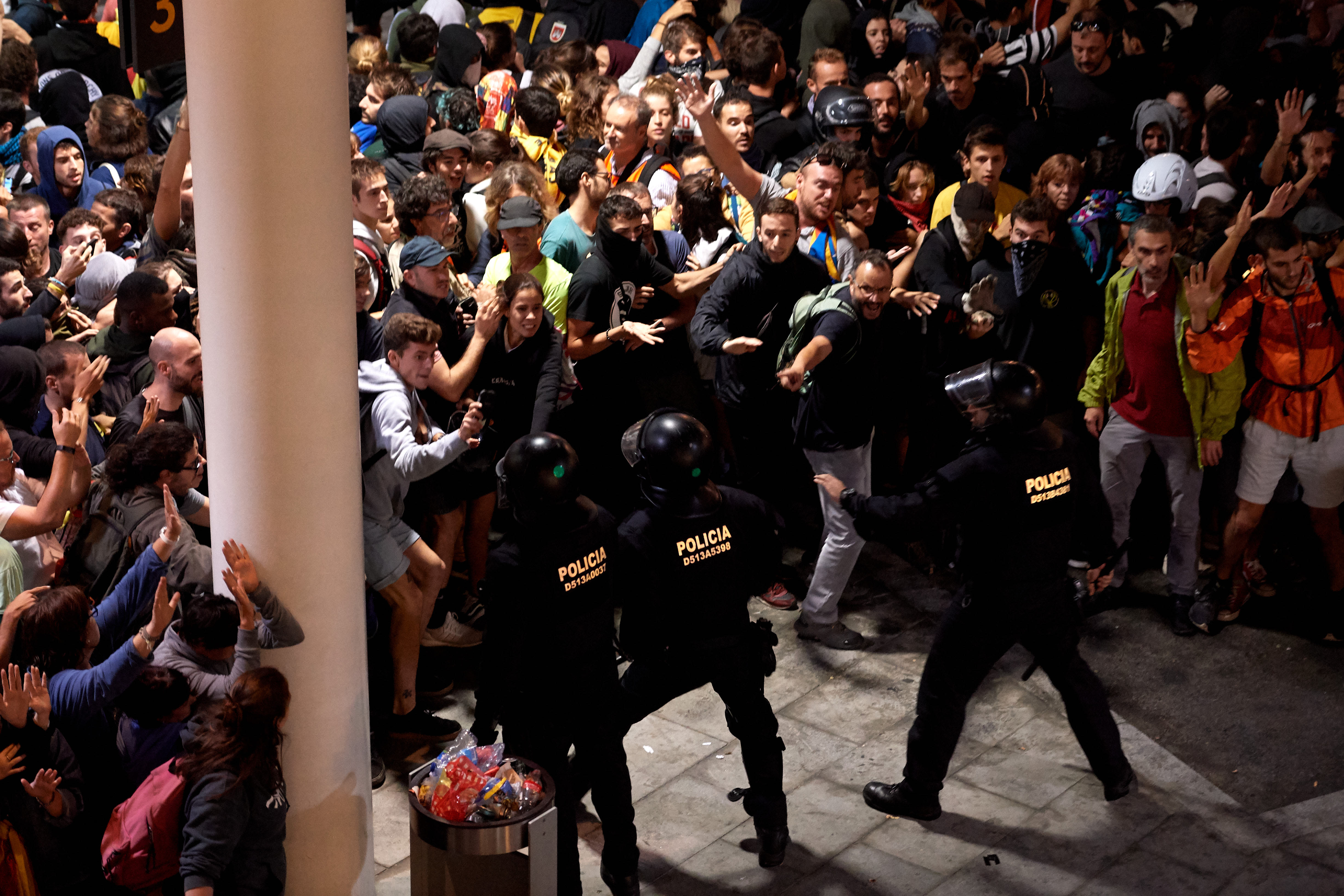 Spain braced for more protests after imprisonment of Catalan leaders provokes outrage