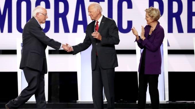 GP: Bernie Sanders Joe Biden Elizabeth Warren Democratic Presidential Candidates Participate In Fourth Debate In Ohio