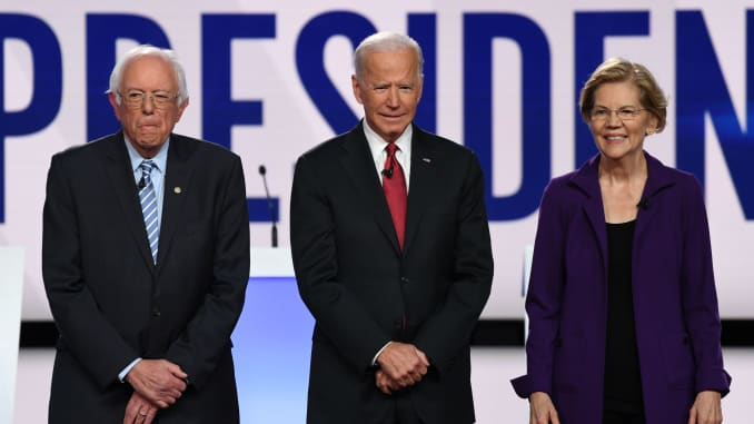 GP: CNN/NYT DEBATE: Bernie Sanders Joe Biden Elizabeth Warren US-VOTE-2020-DEMOCRATS-DEBATE