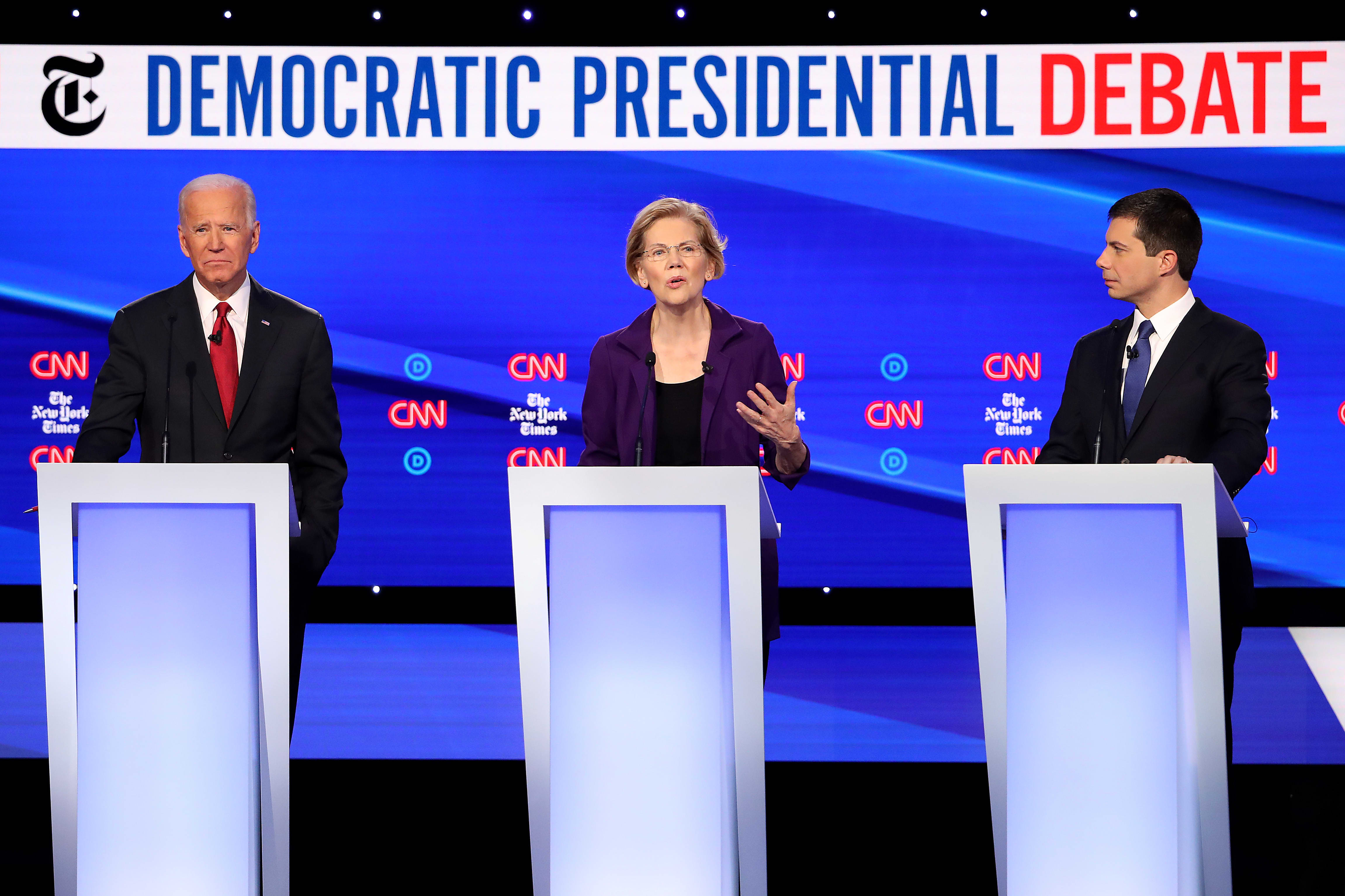 Elizabeth Warren took heat in the fourth Democratic debate. Here are the night's top moments