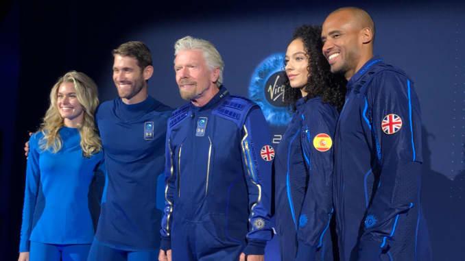 CNBC: Virgin Galactic Under Armour spacesuits group 191016 EC