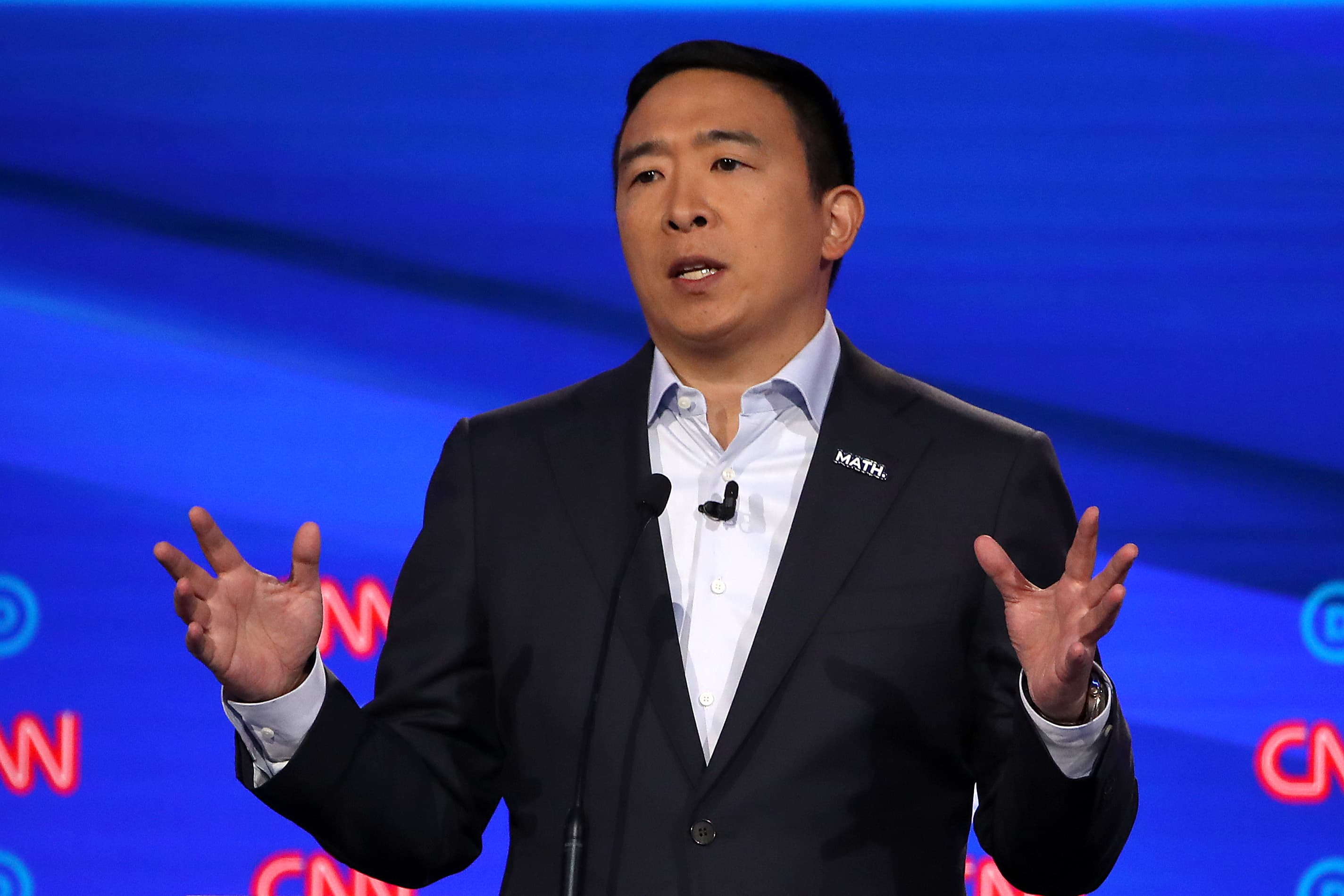 Andrew Yang: You should get a check in the mail from Facebook, Amazon, Google for your data