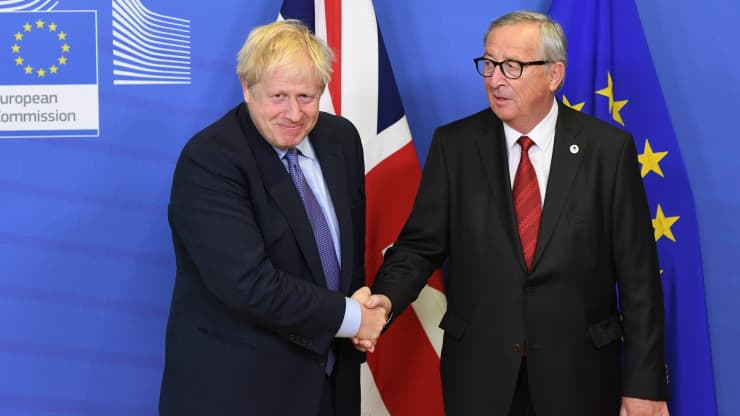 GP: Boris Johnson and Jean-Claude Juncker, Brexit deal 191017