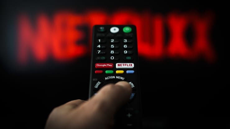 A button for launching the Netflix application is seen on a remote control in this photo illustration in Warsaw, Poland on April 25, 2019. Jaap Arriens | NurPhoto | Getty Images