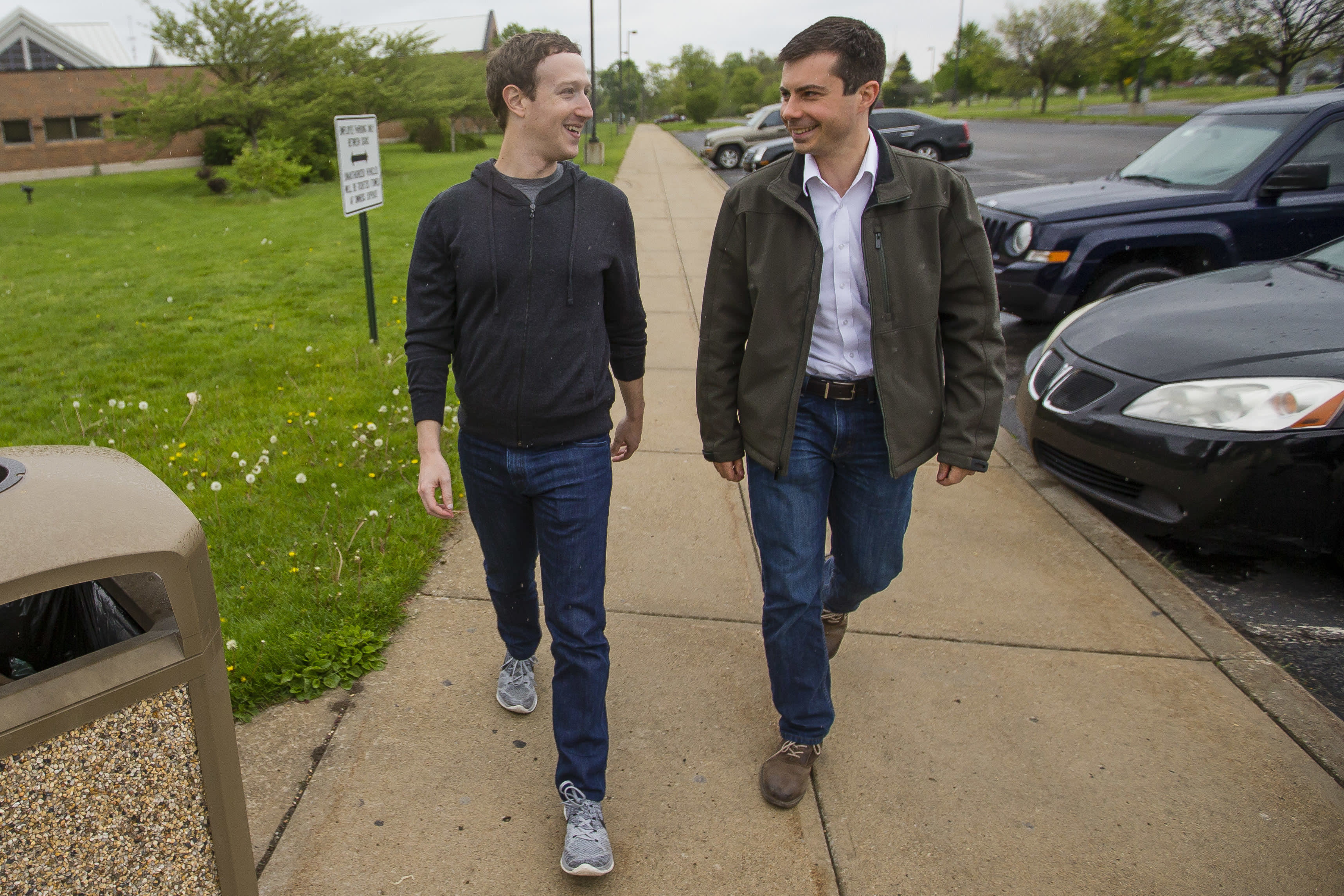 Facebook CEO Mark Zuckerberg and his wife privately recommended staff hires to Pete Buttigieg