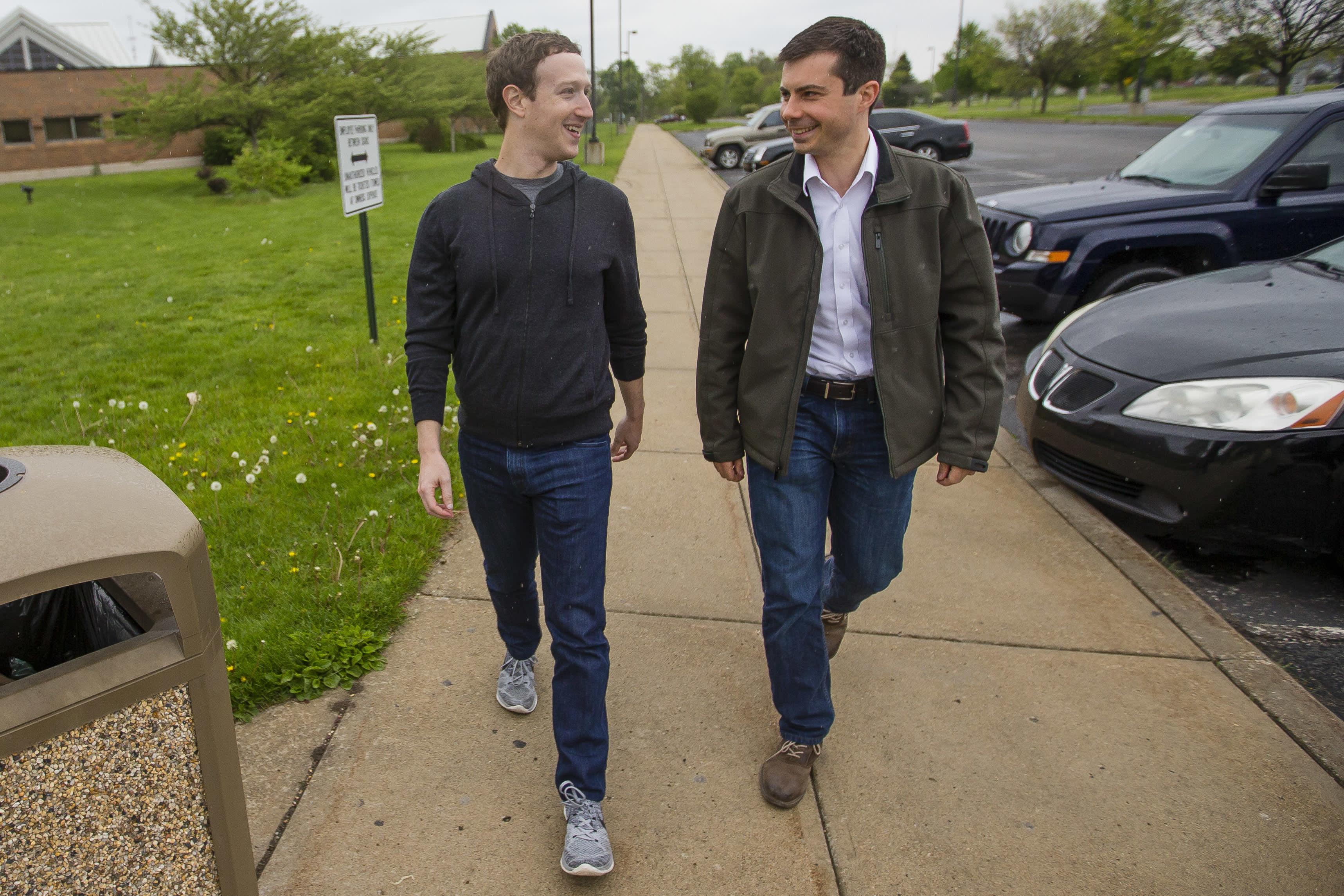 Pete Buttigieg says Facebook CEO Mark Zuckerberg has too much power