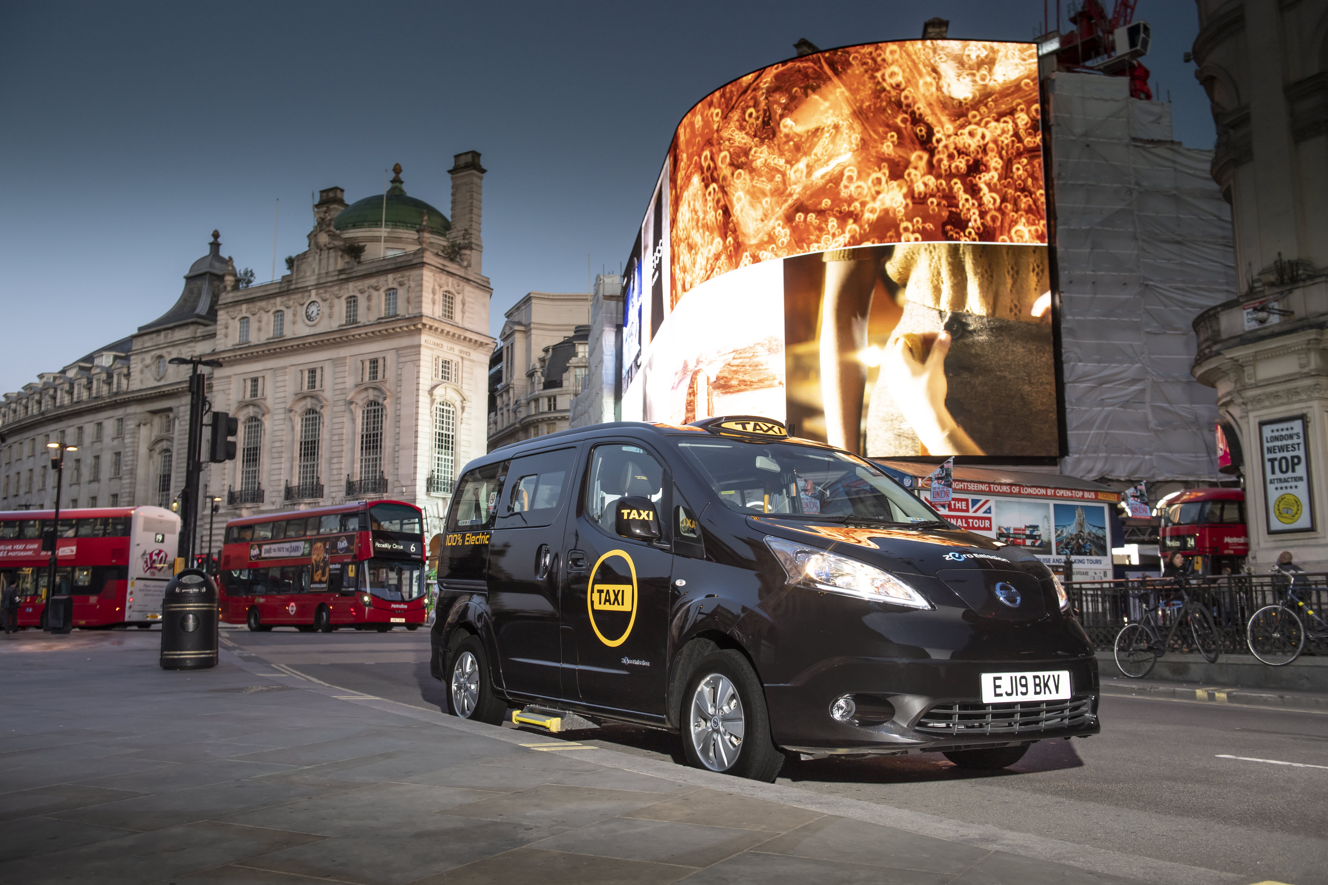 London's world-famous black cabs go green with launch of a fully electric vehicle