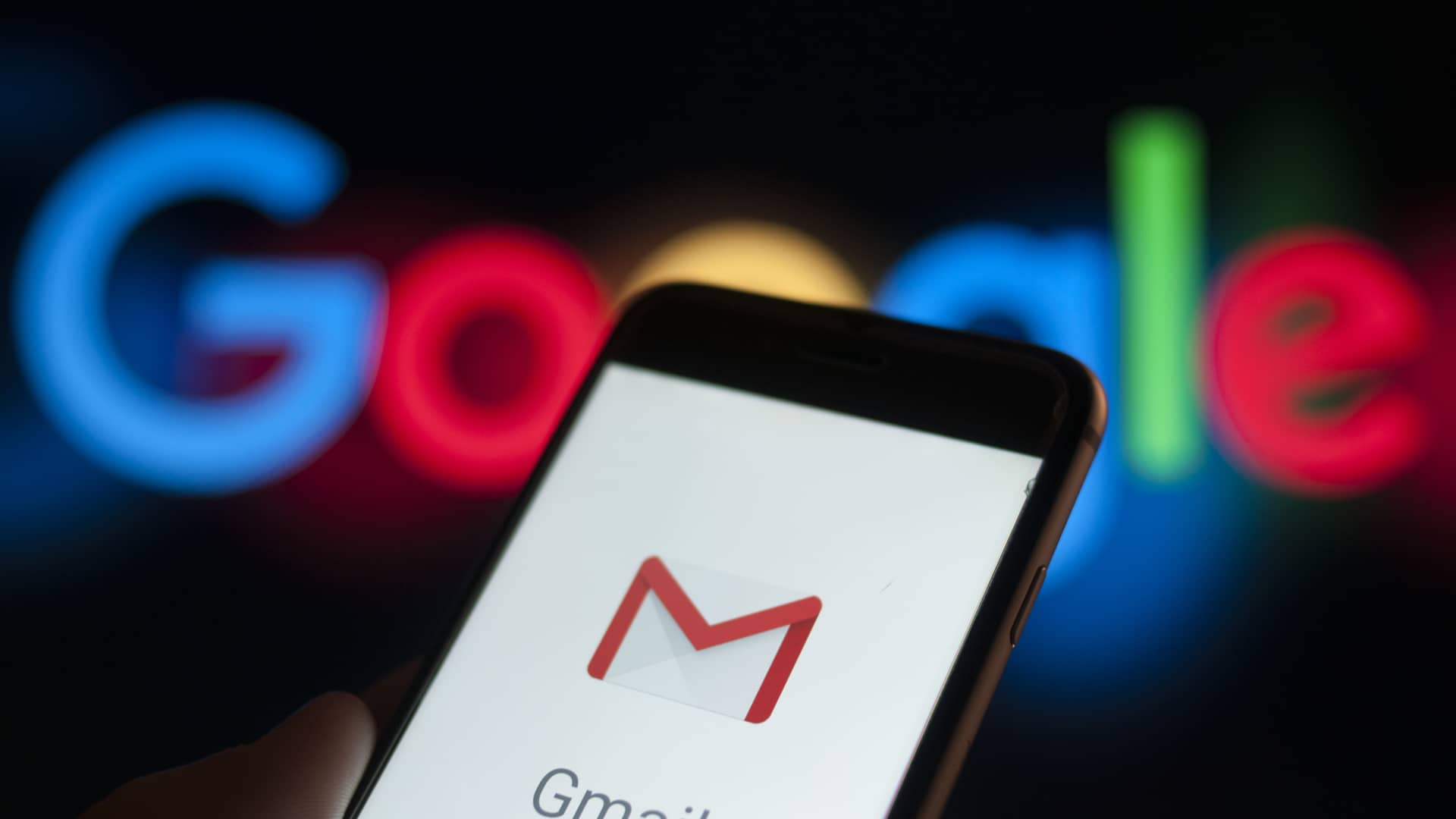 The Gmail email application is seen on a portable device in this photo illustration on December 6, 2017. (Photo by Jaap Arriens/NurPhoto via Getty Images)
